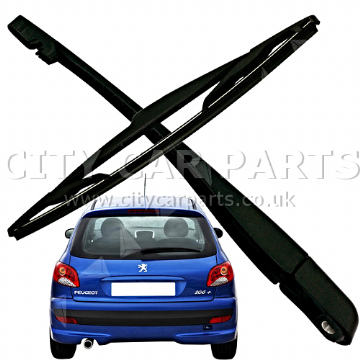 PEUGEOT 206 207 REAR WINDOW WINDSCREEN WINDSHIELD WIPER ARM + BLADE KIT